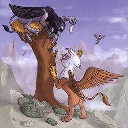 Griffons by HieronymusWhite