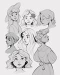 Random girls sketches