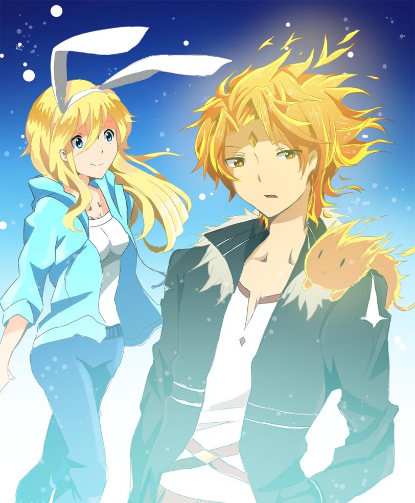 Flame Prince and Fionna by AnimeandCartoonFan
