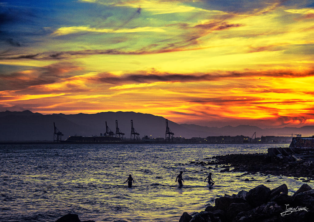 Autumn sunsets at the banos del carmen in malaga by - Banos turcos malaga ...