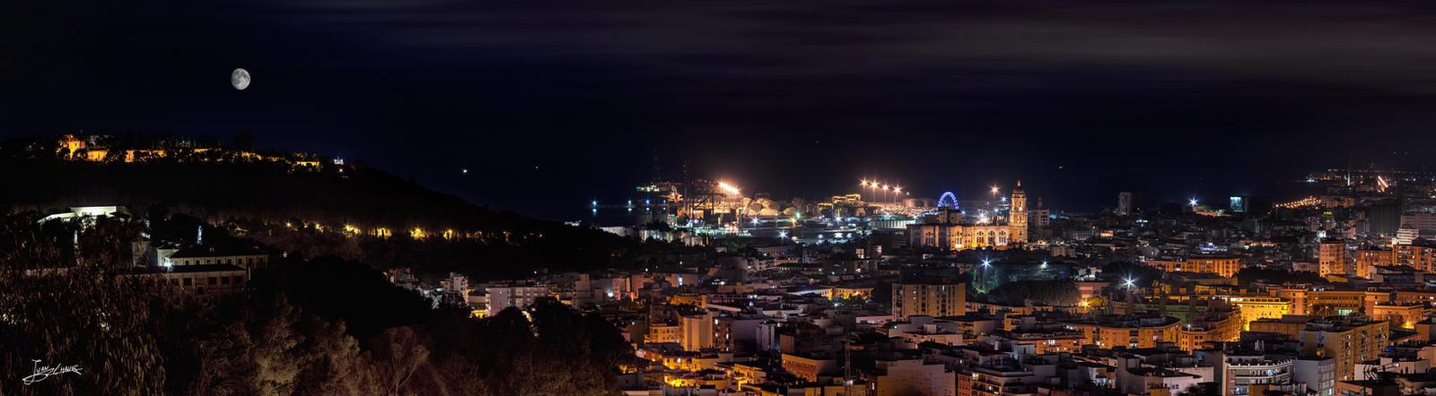 Malaga desde la urbanizacion de Monte Dorado by JuanChaves
