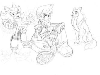 Random sketches by profoundartist