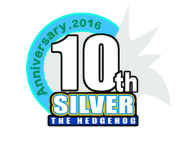 Silver the Hedgehogs 10th anniversary logo 2016 by Silver-Muska