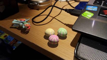 Cute rainbow things on my table!