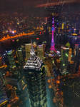 Nighscape above Shangai by NormaCastaDiva