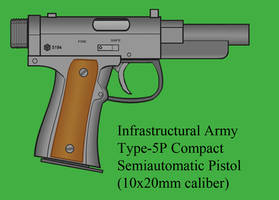 Type-5P Compact Semiautomatic Pistol by Imperator-Zor