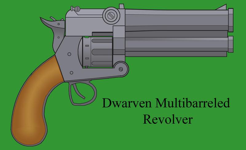 Dwarven Multibarreled Revolver by Imperator-Zor