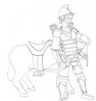 Light Cavalryman: Year 260 by Imperator-Zor