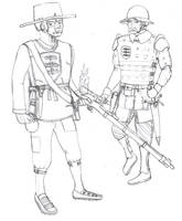 Allergonian feudal levy and armsman by Imperator-Zor