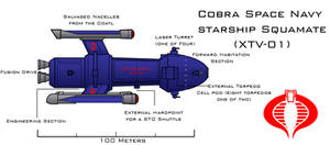 COBRA starship Squamate by Imperator-Zor