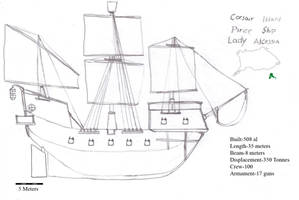 Corsair Island ship Lady Alcessia: Year 508 by Imperator-Zor