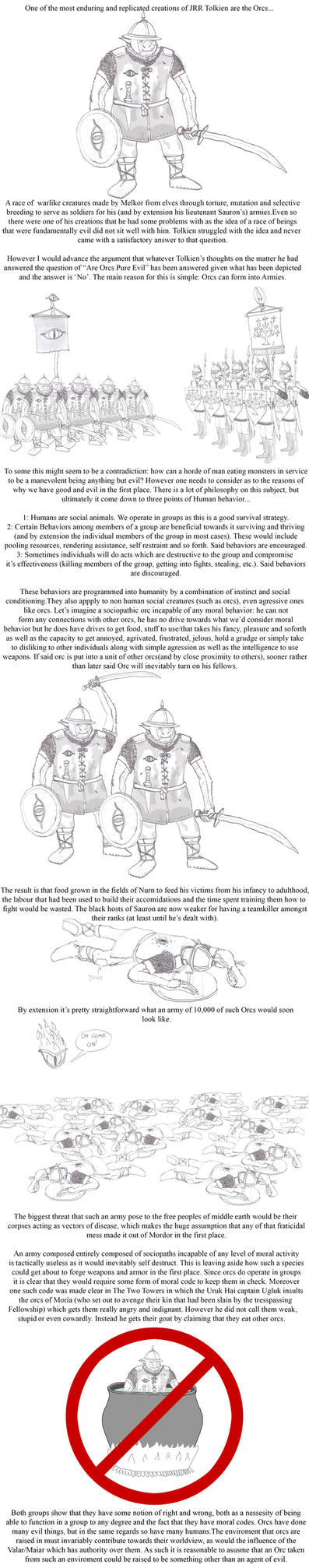 Orc Morality: or Why Pure Evil races don't work by Imperator-Zor