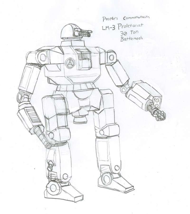 LM-3 Proletariat Battlemech by Imperator-Zor