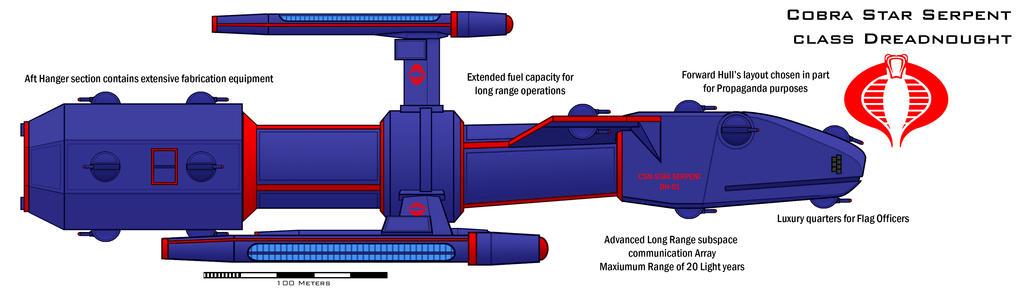 Cobra Star Serpent class Dreadnought by Imperator-Zor