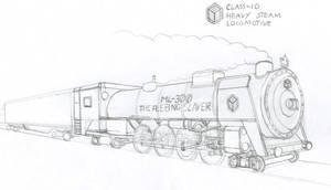 Class-10 Heavy Steam Locomotive by Imperator-Zor