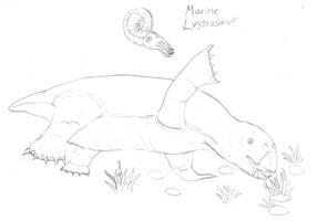 Marine Lystrosaurus by Imperator-Zor