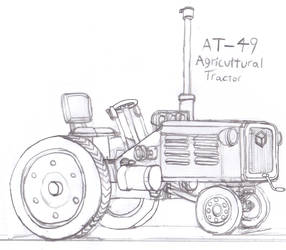 AT-49 Agricultural Tractor by Imperator-Zor