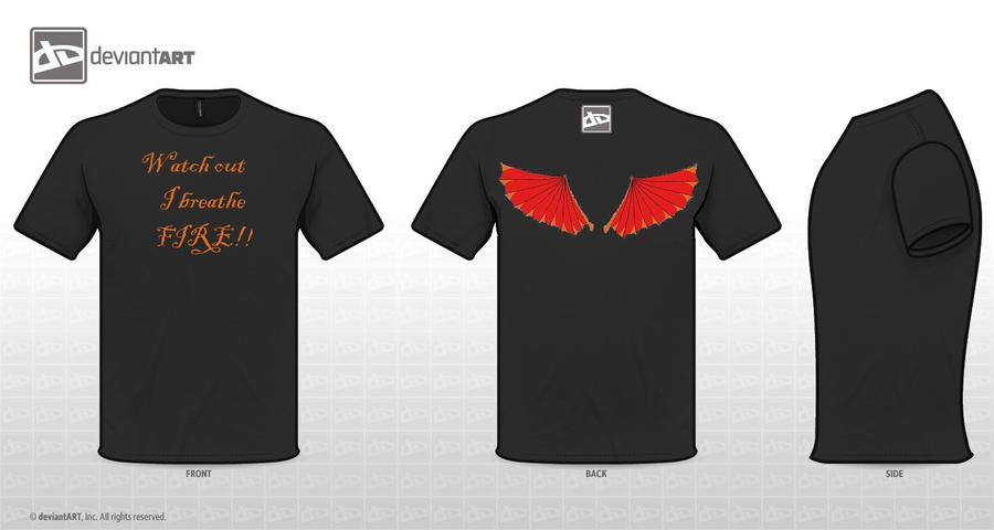 Dragon Wings T-shirt by SmallBell