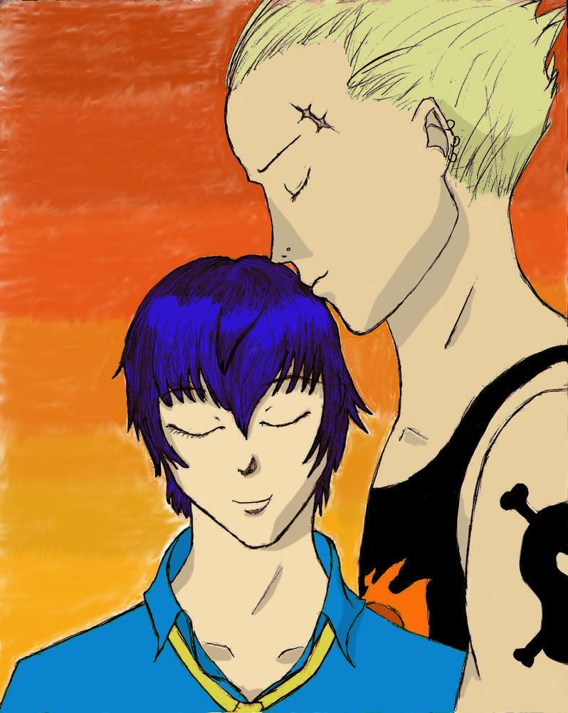 Naoto and Kanji -color- by SmallBell