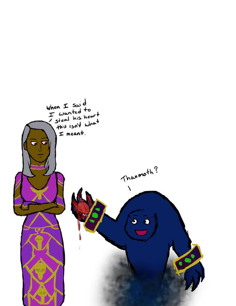 Tinna and Thanmoth by TheBoopingPanda