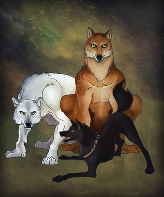 Three Wolves by Katie-Grace