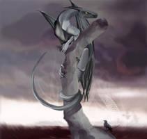Pestilence Dragon on a Tree by Katie-Grace