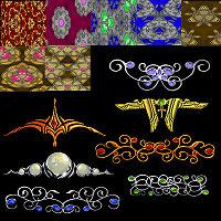 Gilded Textures by FairyRealm by FairyRealm30