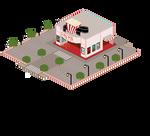 PixelArt Town Entry - Cinema