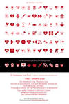 St. Valentine's Icon Pack by TheGalleryOfEve