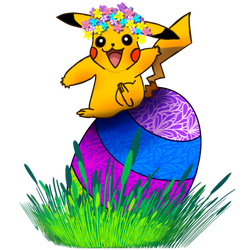 Easter Pikachu For Tommy by TheGalleryOfEve