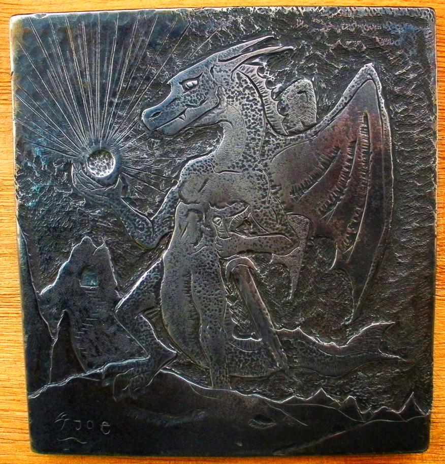 Mountain Dragon Engraving by JoeWere