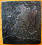 Mountain Dragon Engraving