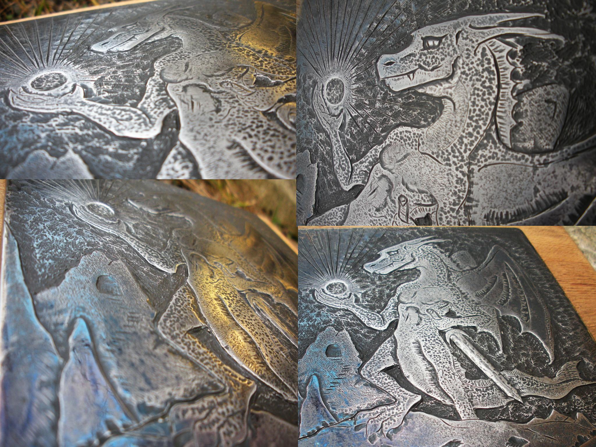 Mountain Dragon Engraving - more angles