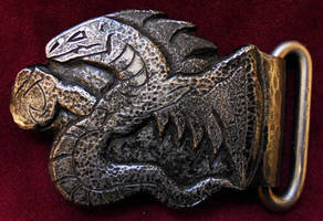 Belt buckle Weredragon by JoeWere
