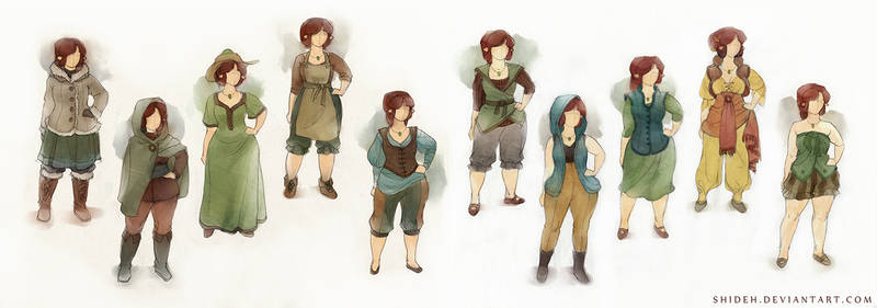 Eileen costume explorations