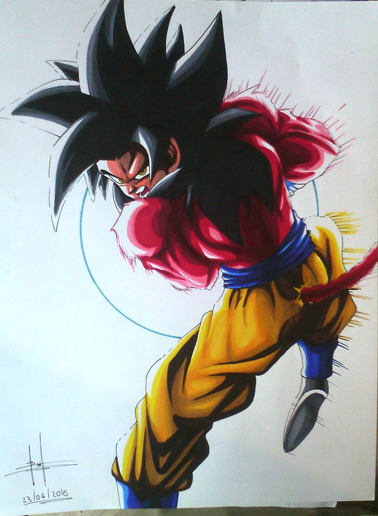 Goku super saiyan 4 Kamehameha by Troloinkto on DeviantArt
