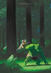 Wolverine Hulk by ememmatt