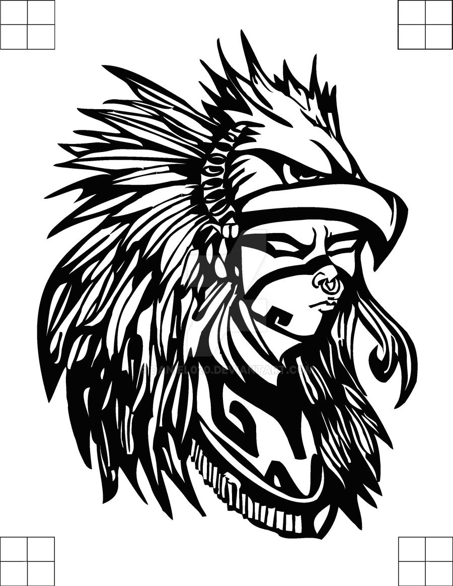 Guerrero aguila by daniel020 on deviantart - Dibujos tribales para tatuar ...