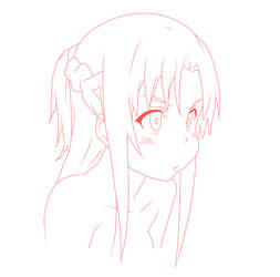 Asuna in progress by Yumearu