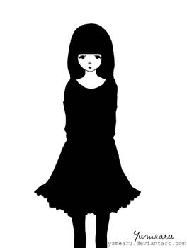 Monochrome girl