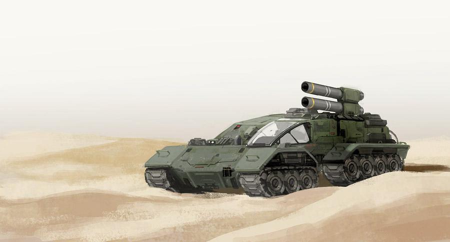 Futuristic Tank by rickyryan