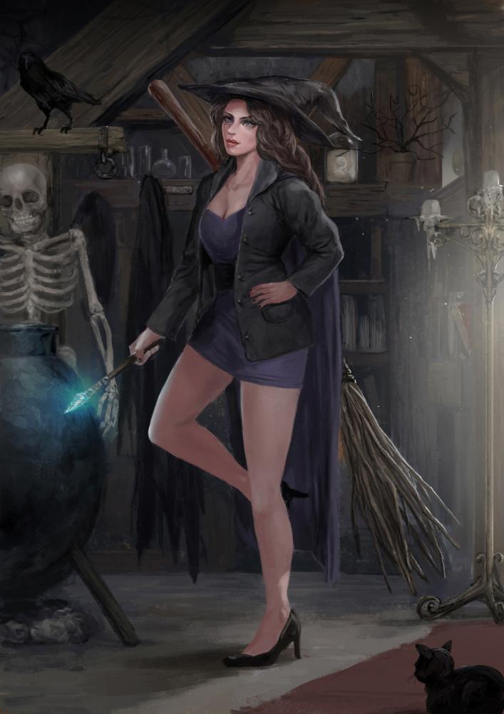 Wizard Witch by rickyryan