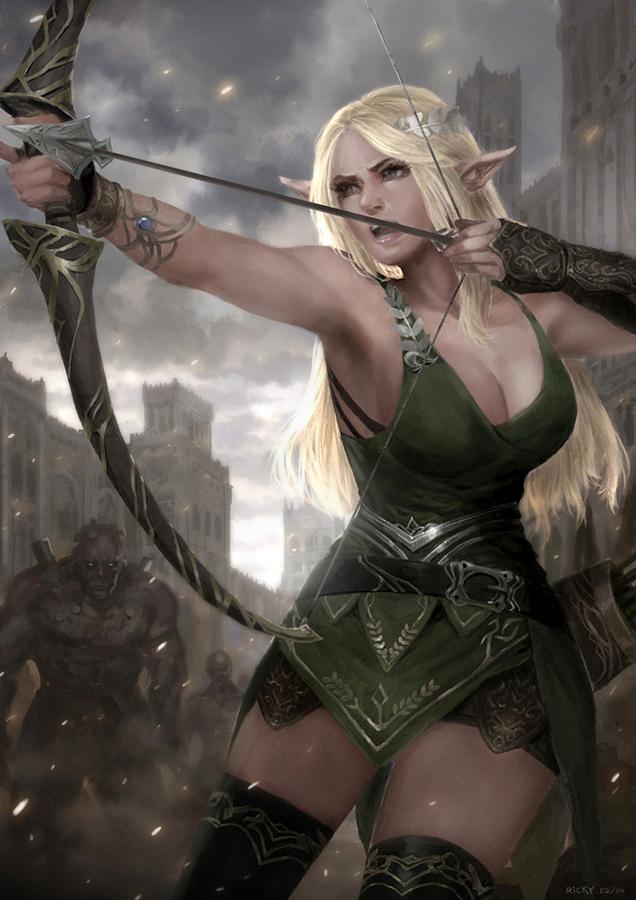 Elf Archer by rickyryan