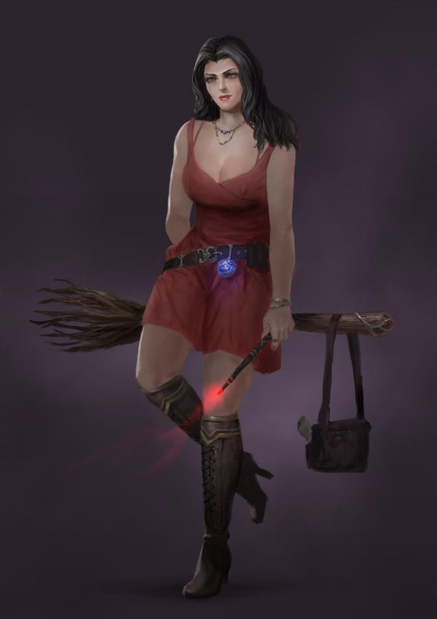 Red Witch Lydia by rickyryan