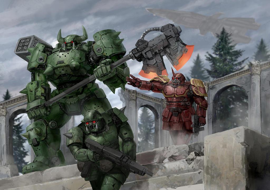 Orc Troopers by rickyryan