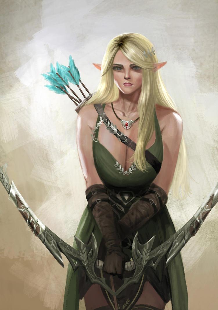 Elf Archer 2 by rickyryan
