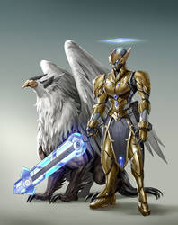 Gold Knight by rickyryan