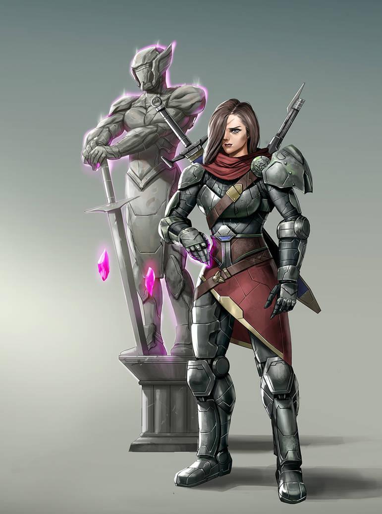 Mercenary Knight by rickyryan
