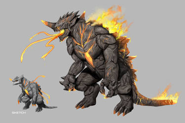 KAIJU Concept Design : FIRE by rickyryan