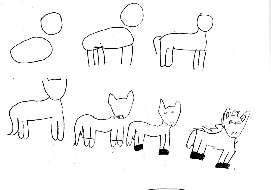 how to draw a simple horse for kids photo3 - Simple Drawing For Kid